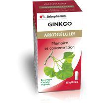 Ginkgo 45 Gelules Arkopharma