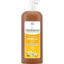 Shower Gel Vanilla Organic 1L Natessance