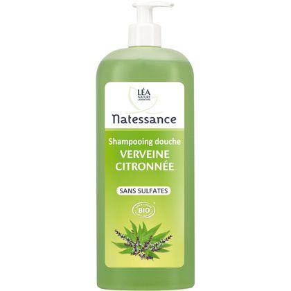Shampoo Shower Gel Vervain Organic 1L Natessance