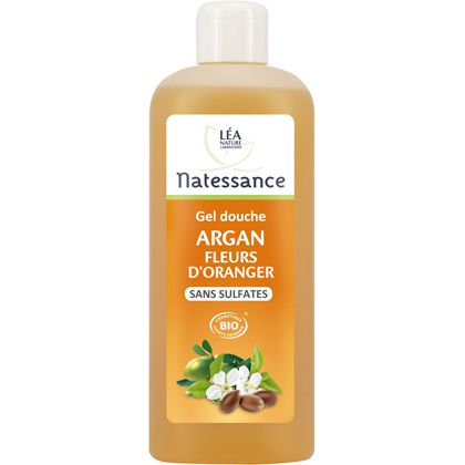 Shower Gel Orange Argan Organic 500Ml Natessance