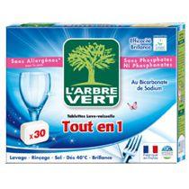 Vaatwastabletten All In One 30 Tabletten  Arbre Vert