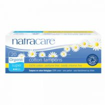 Tampons Super Organic Cotton Without Applicator 20 Pieces Natracare