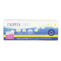 Tampons Super Plus Organic Cotton Without Applicator 20 Pieces Natracare
