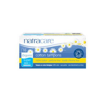 Tampons Super Organic Cotton With Applicator 16 Pieces Natracare