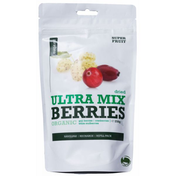 Mix Gojibessen Cranberries Mulberries Bio 200G Purasana  VERVALT 30/03/19