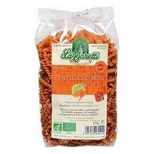 Paste 100% Corail Lentils Flour Organic 250G Lazzaretti EXPIRE 29/07/19