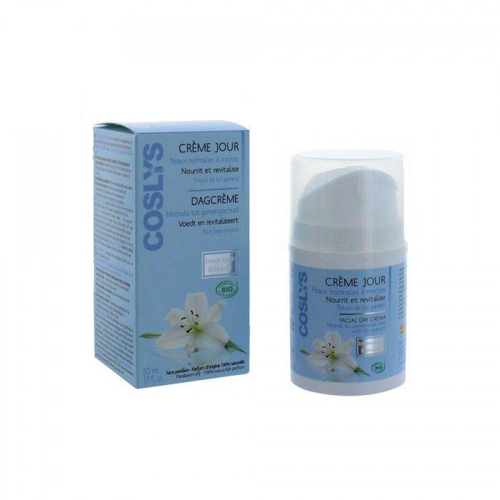 Facial Day Cream Normal To Combination Skin Organic 50Ml Coslys