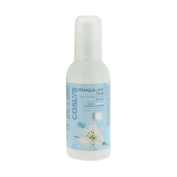 Eye Make Up Remover Normal To Combination Skin Organic 125Ml Coslys