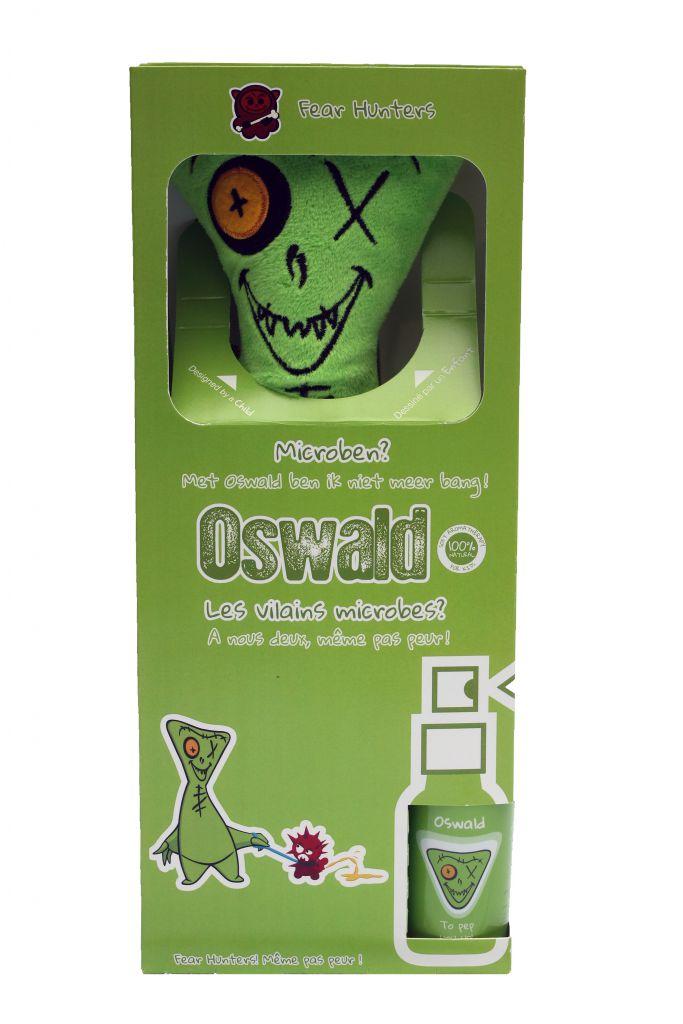 Kit Hug Plush Koorachoo + Spray Aromakids Oswald Fear Hunters