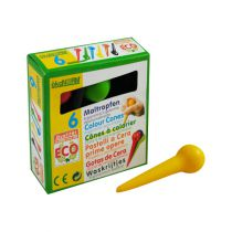 6 Colour Cones Ergonomic Wax Crayon Okonorm
