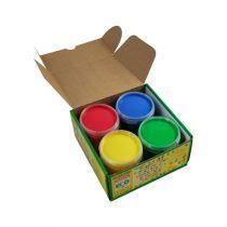 Vingerverf Blauw Geel Rood Groen 4X150G Okonorm