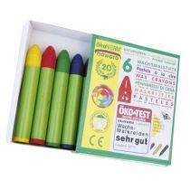 6 Wax Crayons With Beeswax Okonorm