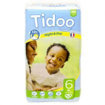 Nappies Night & Day 18-30 Kg Xl6 38 Pieces Tidoo