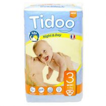 Nappies Night & Day 4-9Kg T3 56 Pieces Tidoo