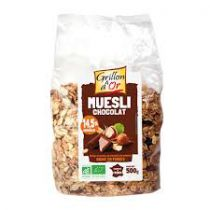 Muesli Chocolade Bio 500G Grillon D'Or