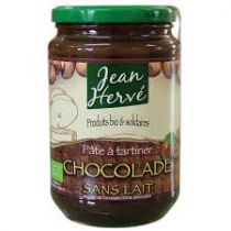 Organic Chocolate Paste Without Milk 350G Jean Herve