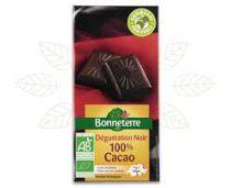 Zwarte Chocolade 100% Cacao Bio 70G Bonneterre