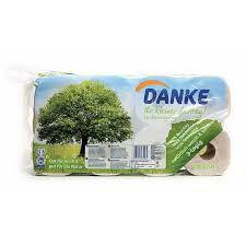 Recycled Toilet Paper 8 Rolls 3 Ply Danke