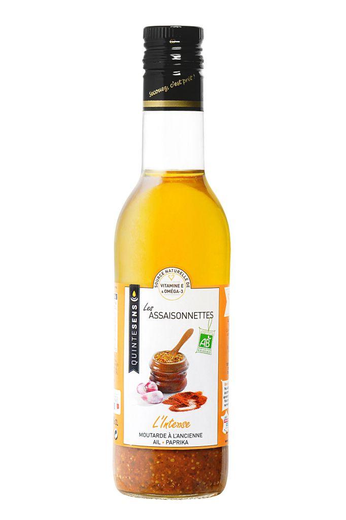 Vinaigrette L'Intense Mustard Garlic Paprika Organic 36Cl Quintesens
