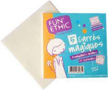 5 Herbruikbare Reiningsdoekjes CarréS Magiques Fun Ethic