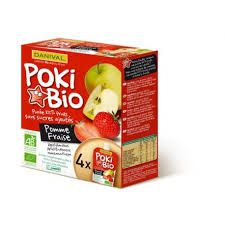 Fruit Compote Apple Strawberry 4X90G Poki Danival