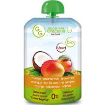 Baby Veldflesje Mango Kokos Rijst Bio 140G Goodness Gracious VERVALDATUM 31/08/17
