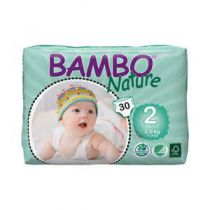Diapers Mini 2 3-6Kg 30 Pieces Bambo Nature