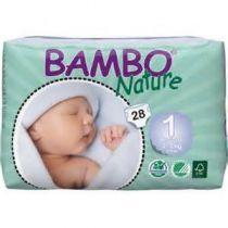 Luiers Newborn 1 2-4Kg 28 Stuks Bambo Nature