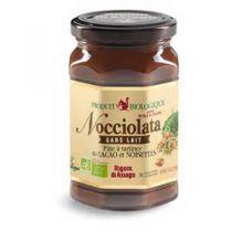 Nocciolata biologische choco smeerpasta hazelnoten zonder melk en glutenvrij 270g