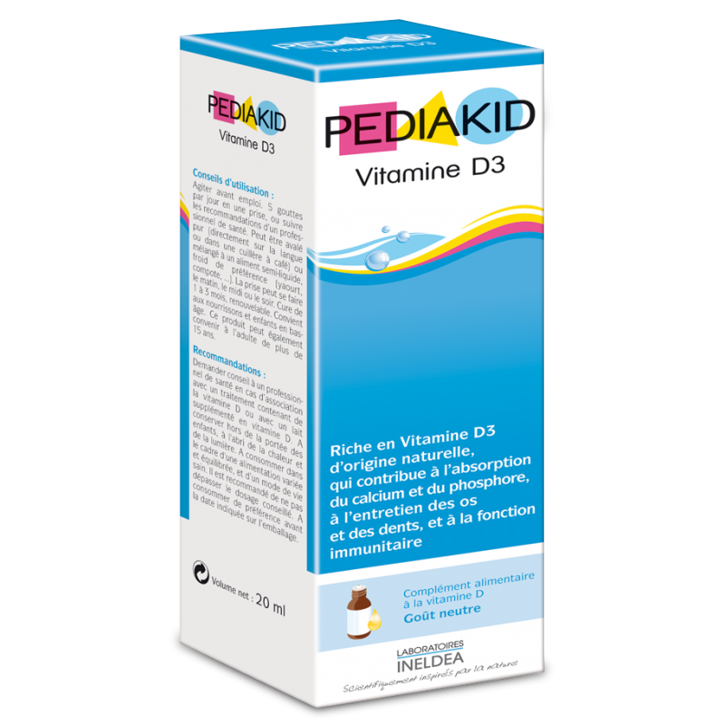 Vitamine D3 20ml Pediakid