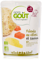 Celeriac polenta salmon 190g from 8 months Good Gout
