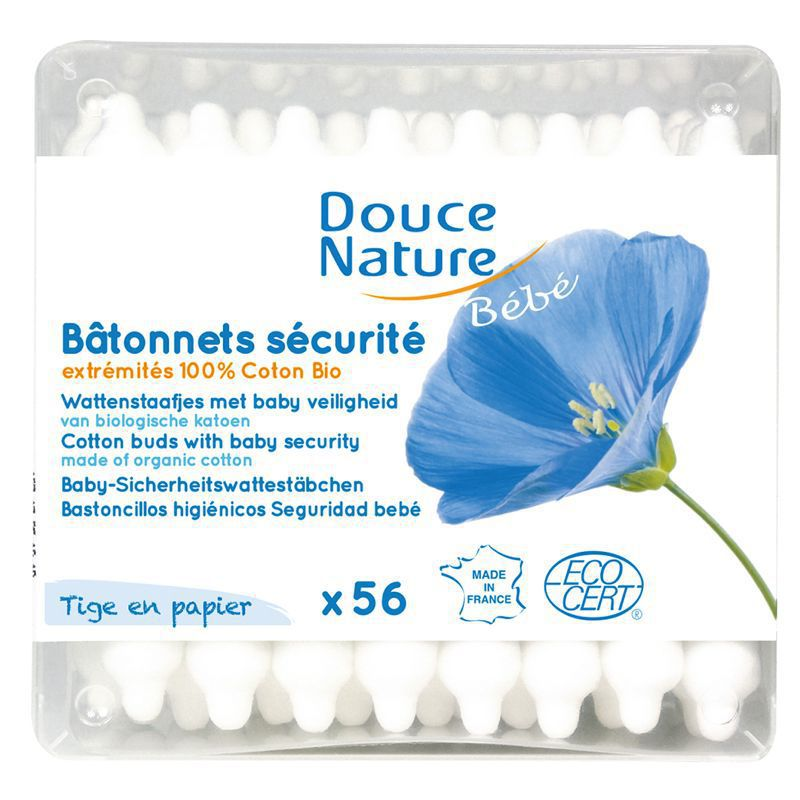 Cotton buds with baby security 56 pieces Douce Nature