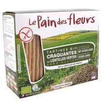 Krokante Crackers groene linzen 150g Pain des Fleurs