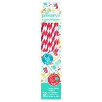 50 straws compostable red Preserve