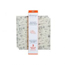3 Medium Beeswax Food Wrap Abeego