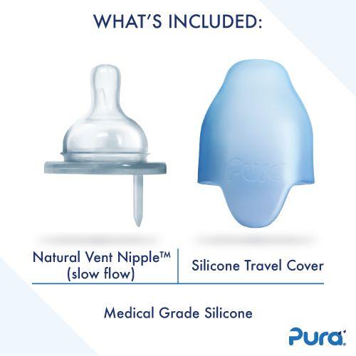 Pura Kiki 150ml Infant Bottle with Sleeve Aqua