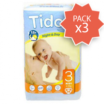 Pack 3 x Nappies Night & Day 4-9Kg T3 56 Pieces Tidoo