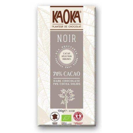 Dark Chocolate 70% Cocoa 100g Fairtrade Kaoka