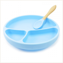 Anti-Slip Portions Plate Blue Minikoioi