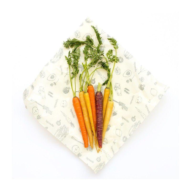 2 Emballages Alimentaires Réutilisables Large Abeego