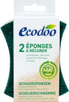 2 Organic Scrubbing Sponges Ecodoo