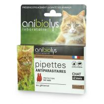 2 Pipettes Antiparasitaires Chat