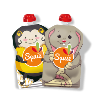 2 Squiz reusable food pouches City 130ml