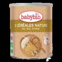 3 Céréales Nature Bébé Bio 250G Babybio