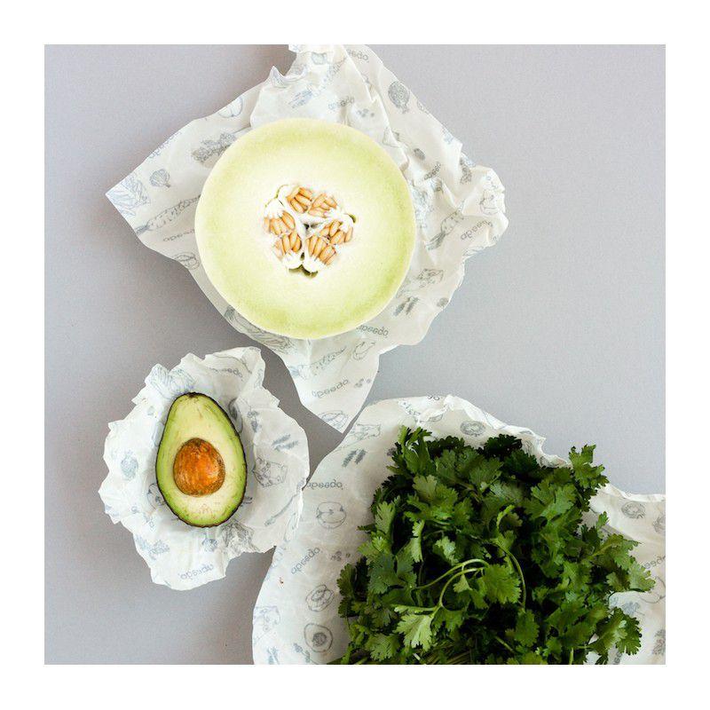 3 Emballages Alimentaires Réutilisables S-M-L Abeego