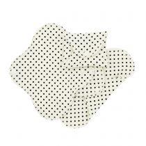 3 Serviettes Hygiéniques Lavables Black Dots Imse Vimse