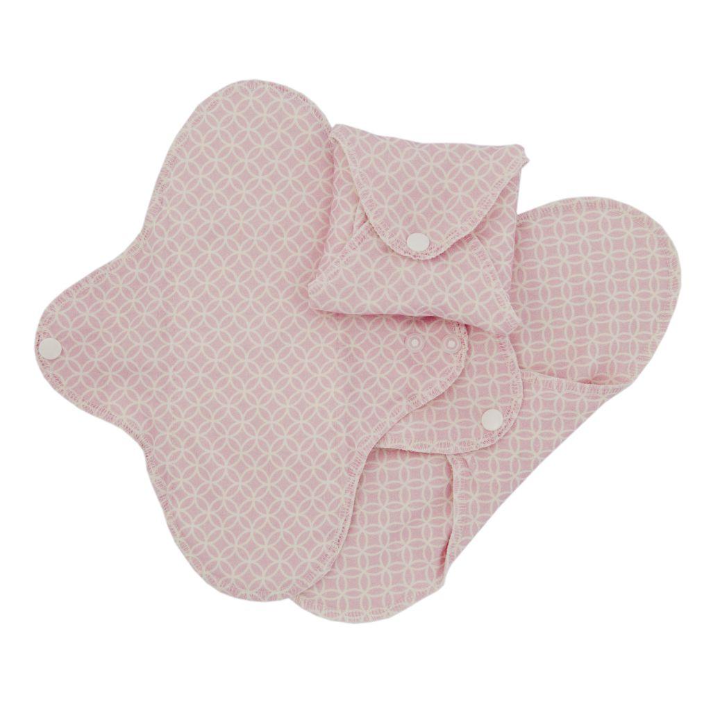 3 Serviettes Hygiéniques Lavables Pink Halo Imse Vimse