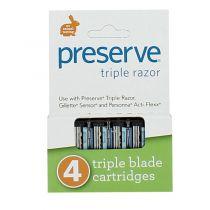 4 Lames Triple De Rechange Preserve