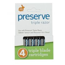 4 Triple Scheermessen Navulling Preserve