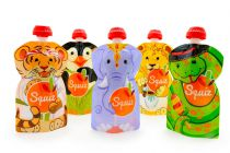5 Squiz reusable food pouches Carnival 130ml